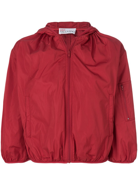 RED VALENTINO jacket cropped women spandex red