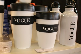 bag vogue mug cool travel mug black and white
