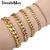 Trendsmax 18cm 20cm Womens Mens Bracelet Stainless Steel Jewelry Gold Color Curb Cuban Link Chain KBM04