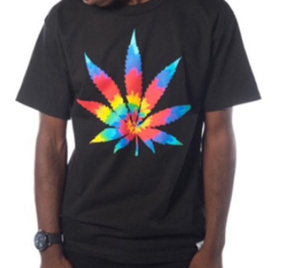 tie dye t-shirt weed canabis, weed tank top backless