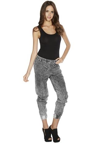 HIGH WAIST ACID WASH JOGGER PANT
