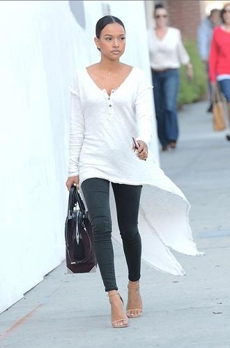 blouse top high low karrueche