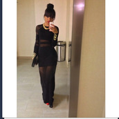 dress,black and gold,little black dress,maxi dress,black maxi dress,jewels,black,illusion type dress,black dress,tumblr,gold,see through,cut-out,prom dress,prom,all black everything,long sleeves,long sleeve dress,bodycon,bodycon dress,see through dress,mesh,mesh dress,sheer,party dress,sexy party dresses,sexy,sexy dress,party outfits,sexy outfit,spring dress,spring outfits,new year's eve,classy dress,elegant dress,cocktail dress,cute dress,girly dress,date outfit,birthday dress,clubwear,club dress,wedding clothes,wedding guest,engagement party dress,tumblr outfit,dope,midi dress