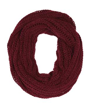 Oxford knitted snood burgundy