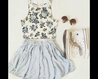 top floral crop tops sleeveless