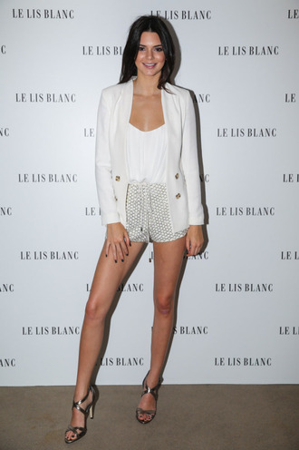 shorts top sandals blazer kendall jenner jacket