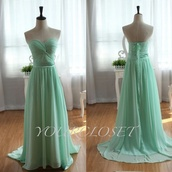 dress,prom dress,long prom dresss,green,green dress,mint dress,mint dress prom cute