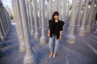 betty blogger jacket mom jeans