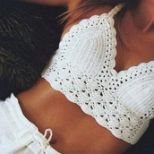 t-shirt,shorts,swimwear,tank top,shirt,white,embroidered,bra,too,white lace top,white lace tank top,white crop tops,white summer top,white shorts,white summer topp,white shorts beachy,all white everything,white top,crop tops,knitted crop top,halter crop top,nightwear,crochet top,crochet crop top,summer,summer outfits,lace top,boho chis,hippie chic,hippie,boho,white crotchet,white crotchet crop top,crochet bralette,cream,lace bralette,pants,gorgeous,matching shorts and top,white lace shorts,white tank top,short,blouse,crochet,halter top,lace,cute,beach,white crochet top,handmade,halter neck,underwear,bralette,top,tropical,knitted shirt,tanned,bustier,bustier crop top,bustier corset white,white #tanned #cropped,nittedtshirt,summer shirt,white shorts cute,sumika,knitwear,clothes,boho style shorts,beach shorts,boho shirt,bralet top,summer top,boho chic,style,fashion,the fashion bible,blogger,cropped,www.thefashionbible.co.uk,looking for a crochet top kinda like this one :),High waisted shorts,knitted top