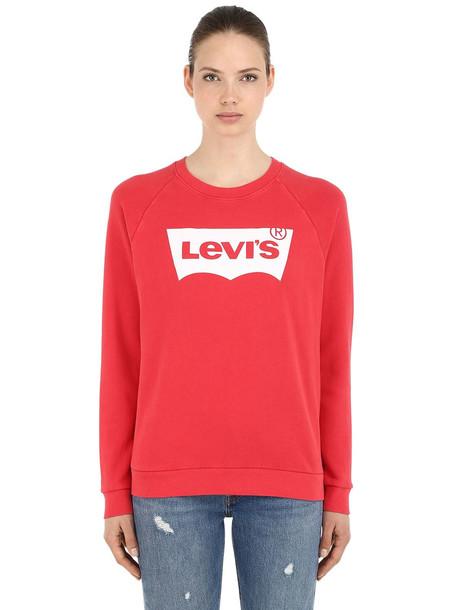 LEVI'S RED TAB Vintage Logo Cotton Sweatshirt in red
