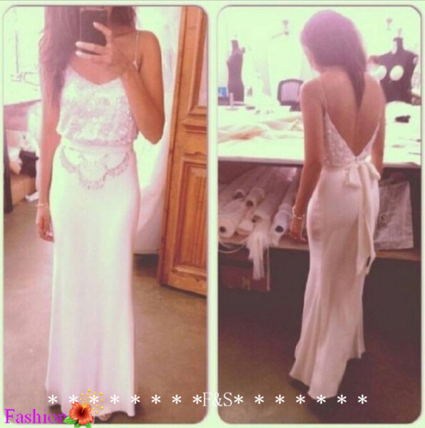 Aliexpress.com : buy sexy backless mermaid evening dress sexy open back prom dress spaghetti strap long prom evening dress beaded sheath evening gown from reliable prom dress long sleeve suppliers on fashion streets