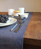 home accessory,dinnerwear,runner,linen runner,grey table runner,gray table runner,linen tableware,tableware,table runners