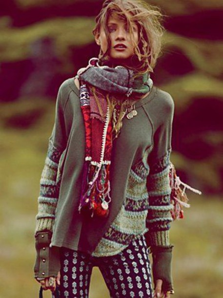 Jacket Boho Hippie Winter Outfits Bohemian Chic Hippy