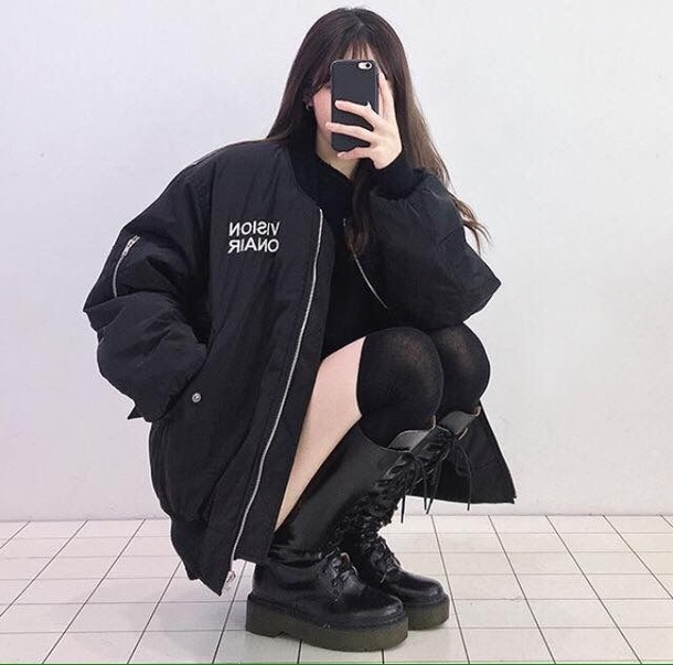 shoes boots cute hot black black boots lace coat jacket winter coat black jacket black coat