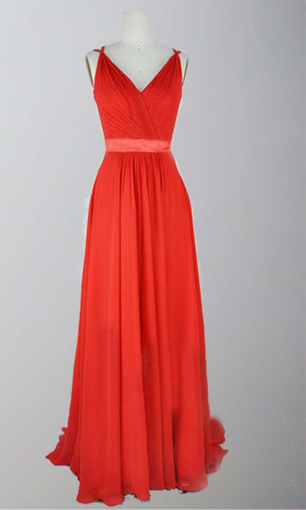 sash belt dress red dress red prom dress red formal dress v neck dress long prom dress spaghetti strap gown