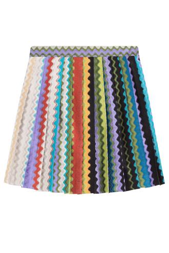 skirt knit crochet multicolor