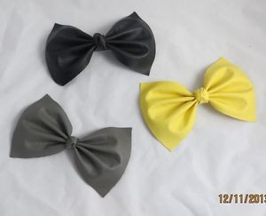 Girls Large Hair Bow Clip Faux Leather Hair Accessory | eBay