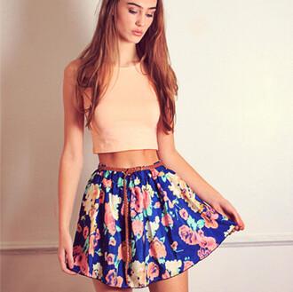 skirt skater skirt floral skirt floral pattern spring skirt summer skirt floral skater skirt