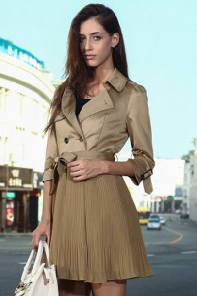 coat patchwork coat dress fall coat winter coat stylish belted coat dress pleated winter outfits fall outfits cute winter coats cute outfits fashionista party outfits