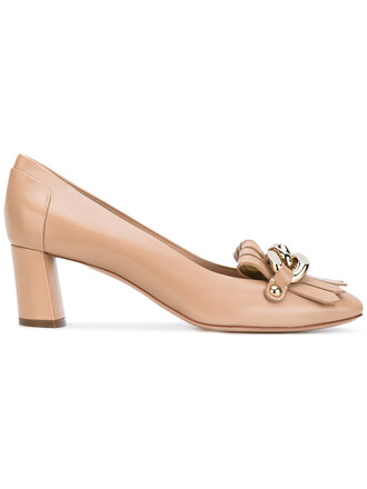 heel women loafers leather nude shoes