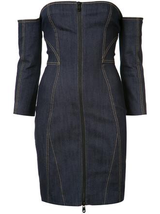 dress denim dress denim strapless women spandex cotton blue