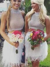 dress,prom,prom dress,short prom dress,prom gown,prom gowns,two-piece,fahsion,fashion,modern fahsion
