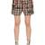 Printed Plaid Cotton Twill Shorts