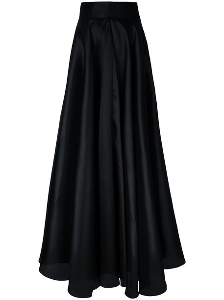 Bambah skirt women black silk