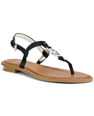 MICHAEL Michael Kors Sondra Thong Sandals - Plus Sizes - Macy's