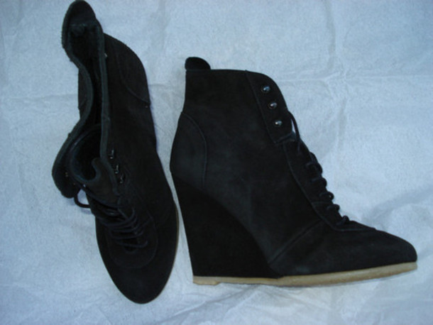 zara black shoes boots