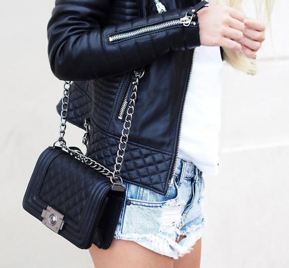 jacket leather jacket zipper black jacket