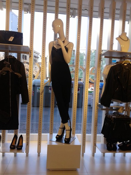 dress maxi dress black bershka cut off shorts