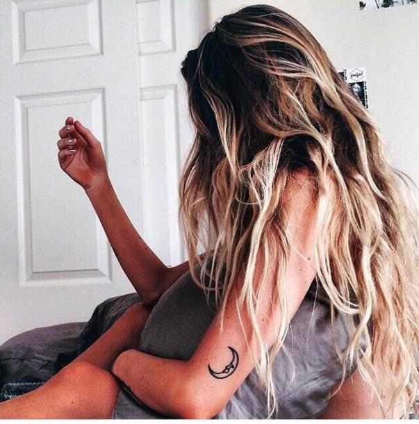 Jewels Tattoo Indie Hot Grunge Summer Hair Highlights