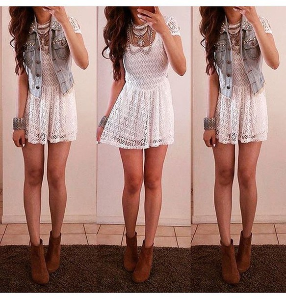 dress lace dress peplum white dress cute dress cute