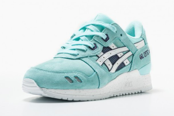 shoes, asics gel lyte iii, mint, sneakers asisc Wheretoget