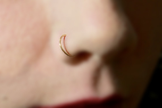 Nose Ring 20ga Gold Rose Gold Sterling Silver 20 by jewelryVI