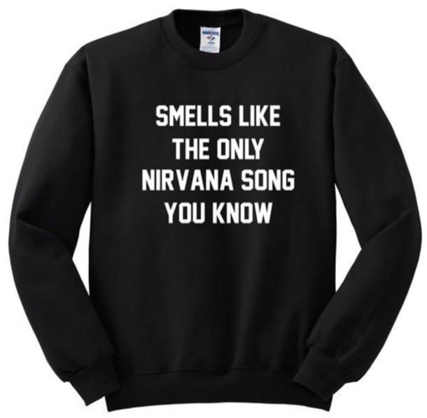 sweater nirvana band merch shirt