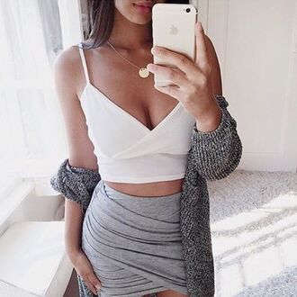 skirt grey skirt wrap skirt wrap dress annemerel blogger