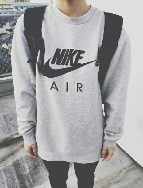 sweater nike air gray mens sweater grey sweater nike jacket nike air nikeair hoodie crewneck jumper sweatshirt guys grey