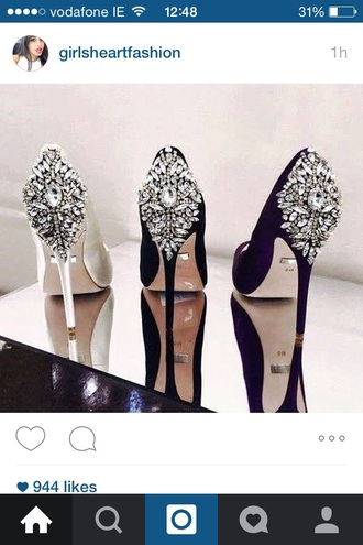 shoes diamonds glitter heels jewels crystal black white white heels black heels wedding shoes wedding beautiful high heels pointed toe pumps pointed toe