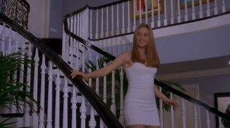 dress cher clueless alicia silverson 1995 white blonde hair cute 90's