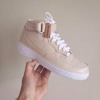 shoes nude nike pale pretty tumblr high top sneakers