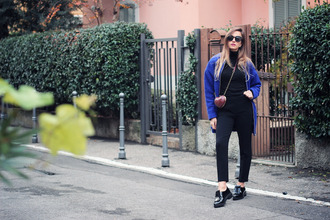 jewels heart blogger bag fashion quite sunglasses coat blue loafers