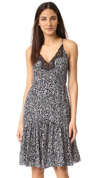 dress slip dress black