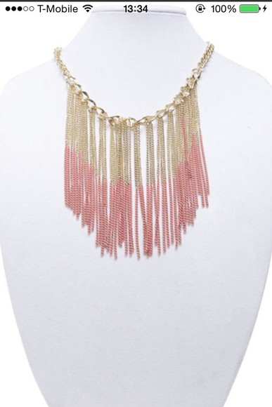 fringe jewels necklace