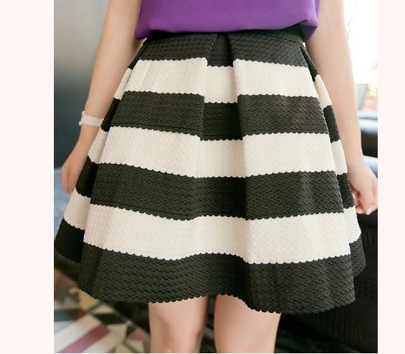 Cute grain high waist skirt Fanewant
