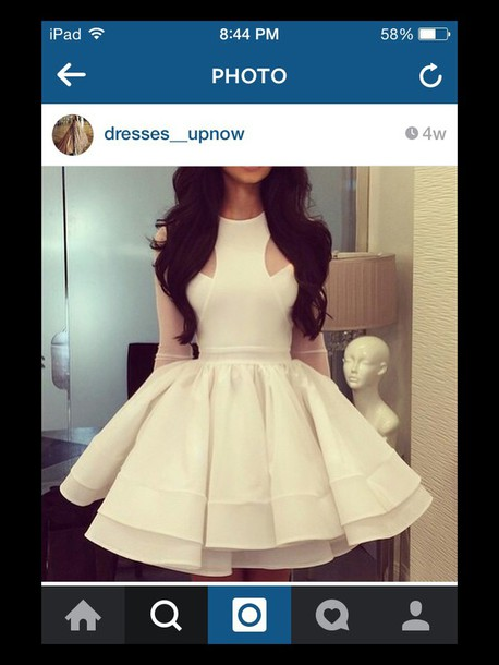 dress off-white cut-out white dress fit and flare dress