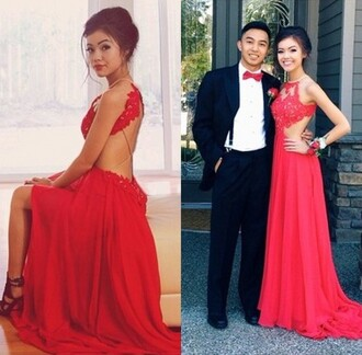 dress backless red dress halter dress