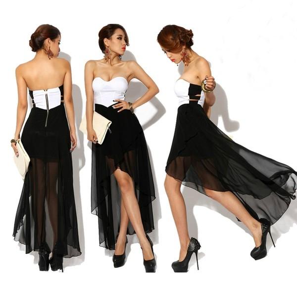 dress black white dope