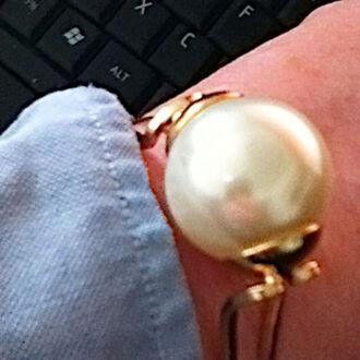 jewels big pearl cuff bangle
